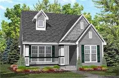 4-Bedroom, 1385 Sq Ft Cape Cod Home Plan - 146-1621 - Main Exterior