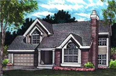 3-Bedroom, 1430 Sq Ft Country Home Plan - 146-1627 - Main Exterior