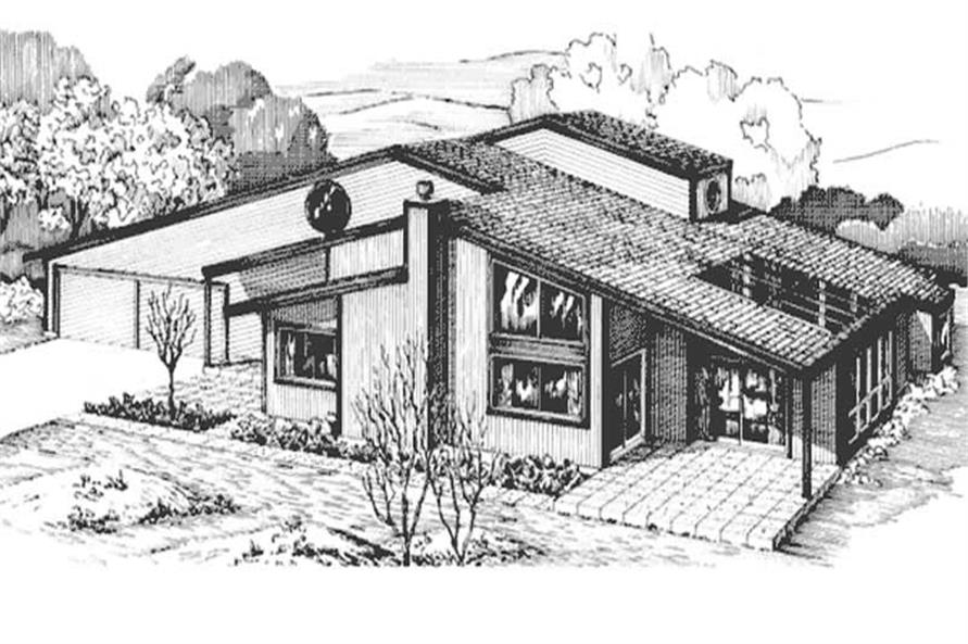 2-Bedroom, 2273 Sq Ft Contemporary House Plan - 146-1633 - Front Exterior