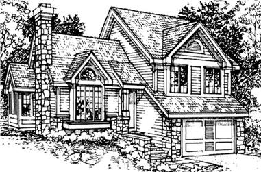 2-Bedroom, 1776 Sq Ft Small House Plans - 146-1636 - Main Exterior