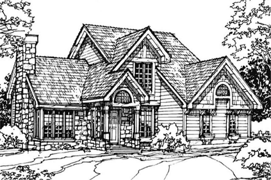 2-Bedroom, 1957 Sq Ft Country Home Plan - 146-1639 - Main Exterior
