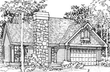 2-Bedroom, 1231 Sq Ft Country House Plan - 146-1644 - Front Exterior