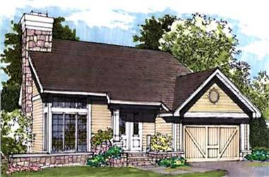 3-Bedroom, 1665 Sq Ft Country Home Plan - 146-1648 - Main Exterior