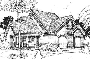 3-Bedroom, 1860 Sq Ft Country House Plan - 146-1654 - Front Exterior