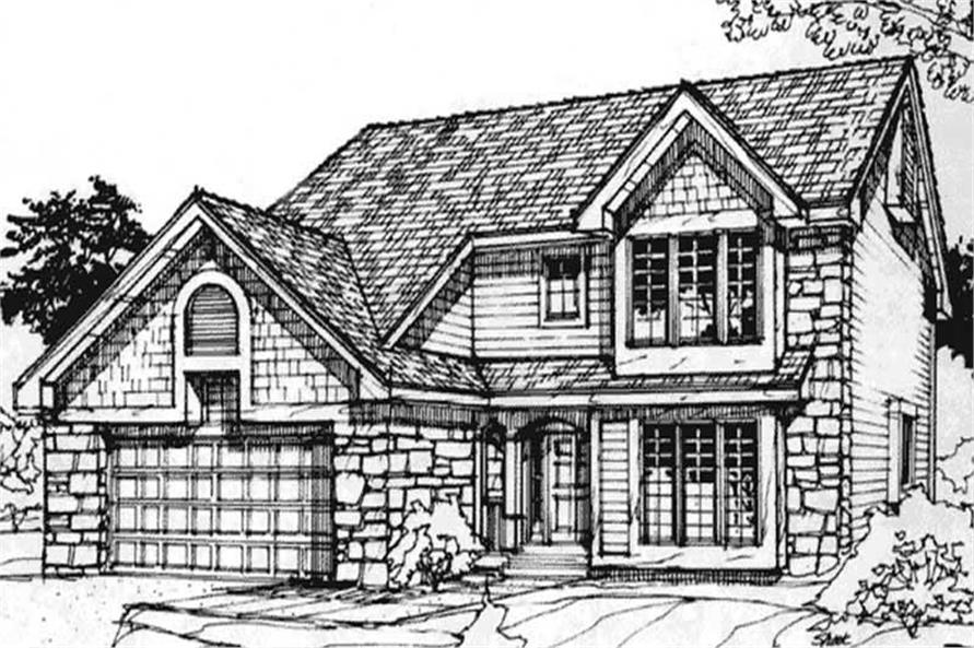 This image shows the Country/European Style of this set of house plans.