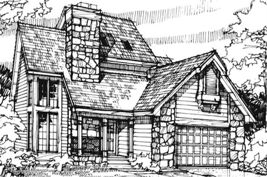 3-Bedroom, 1911 Sq Ft Cape Cod House Plan - 146-1660 - Front Exterior