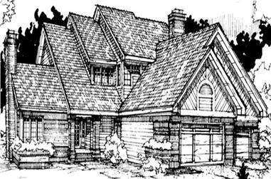 4-Bedroom, 3395 Sq Ft Colonial House Plan - 146-1661 - Front Exterior