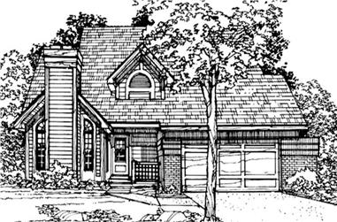 3-Bedroom, 1881 Sq Ft Country House Plan - 146-1663 - Front Exterior