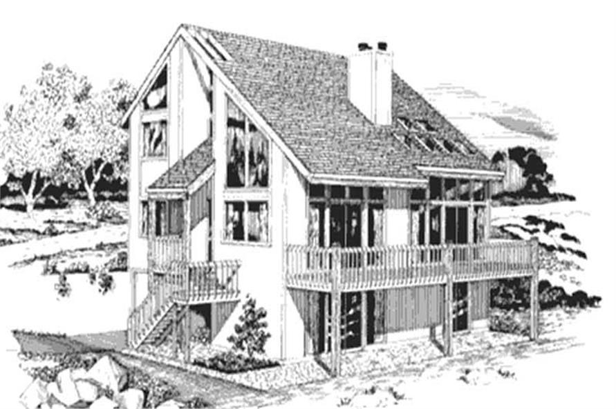 5-Bedroom, 3237 Sq Ft Vacation Homes Home Plan - 146-1664 - Main Exterior