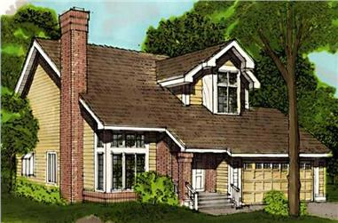 3-Bedroom, 1404 Sq Ft Country House Plan - 146-1667 - Front Exterior