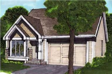 2-Bedroom, 1127 Sq Ft Country House Plan - 146-1670 - Front Exterior
