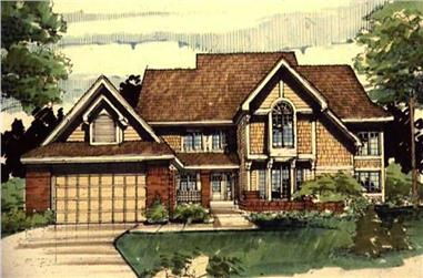 4-Bedroom, 2656 Sq Ft Country House Plan - 146-1678 - Front Exterior