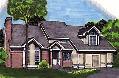 3-Bedroom, 3055 Sq Ft Ranch House Plan - 146-1679 - Front Exterior