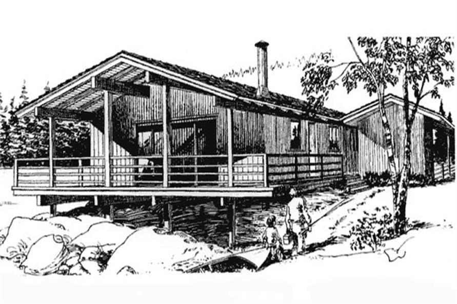 3-Bedroom, 1104 Sq Ft Coastal House Plan - 146-1681 - Front Exterior