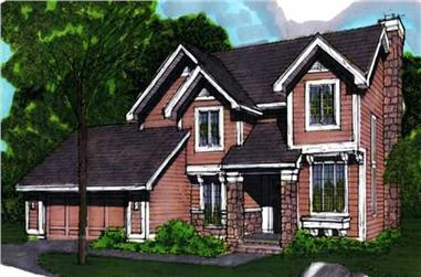 3-Bedroom, 2077 Sq Ft Country Home Plan - 146-1684 - Main Exterior