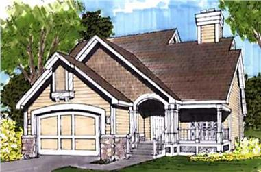 3-Bedroom, 1465 Sq Ft Cape Cod House Plan - 146-1686 - Front Exterior