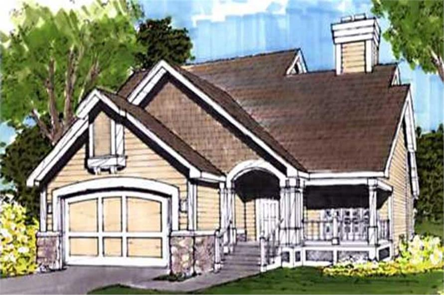 This image shows the Country/Craftsman Style of this set of house plans.