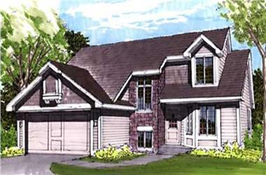 3-Bedroom, 1600 Sq Ft Cape Cod Home Plan - 146-1688 - Main Exterior