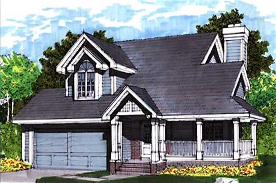 This image show the Traditional/Country Style of this set of house plans.