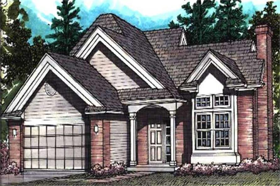 Country Houseplans LS-B-91041 colored rendering.