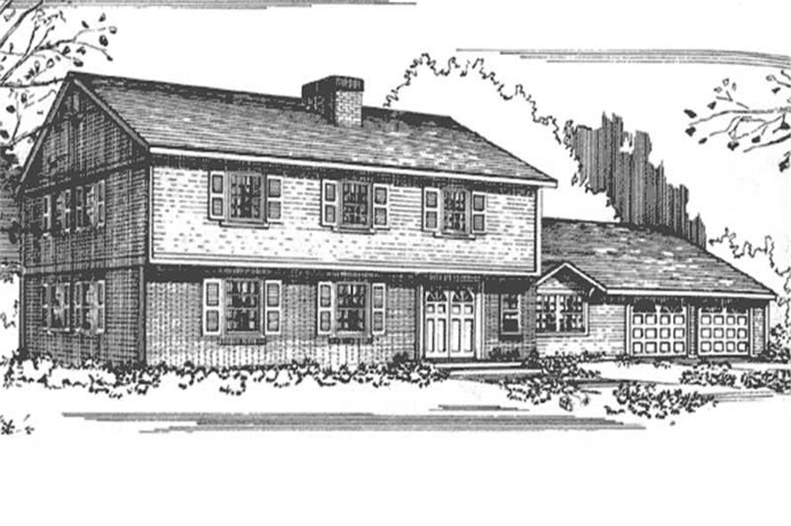 3-Bedroom, 2348 Sq Ft Colonial House Plan - 146-1693 - Front Exterior