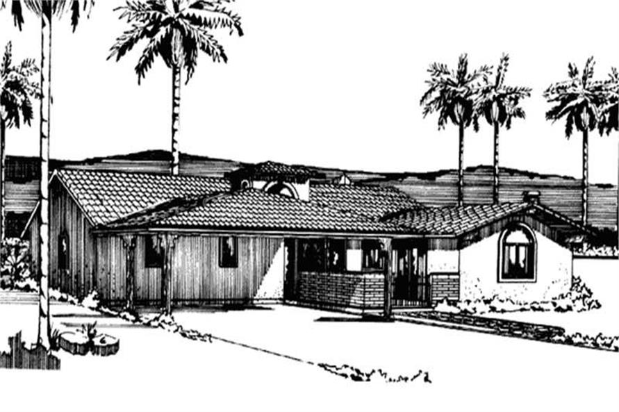 Front View to home plan