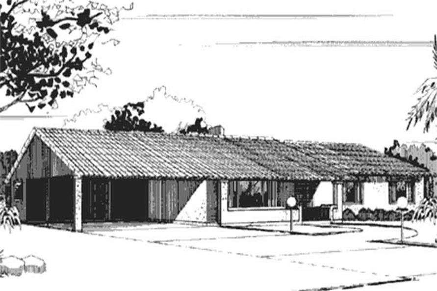 Front View to this Ranch house