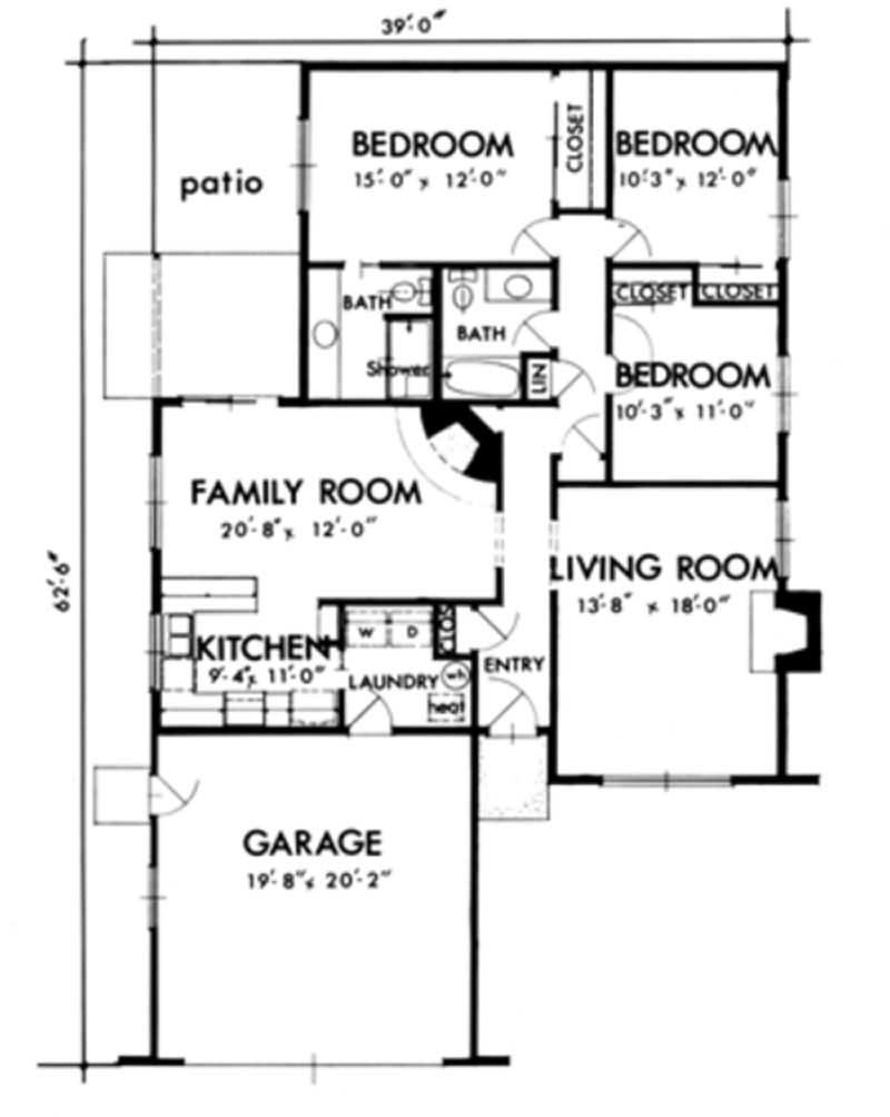 Southwest house plans home design ls h 1396 1a for Southwest house floor plans