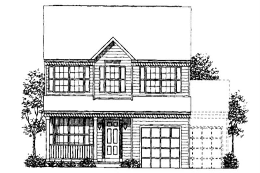 4-Bedroom, 1790 Sq Ft Colonial House Plan - 146-1706 - Front Exterior