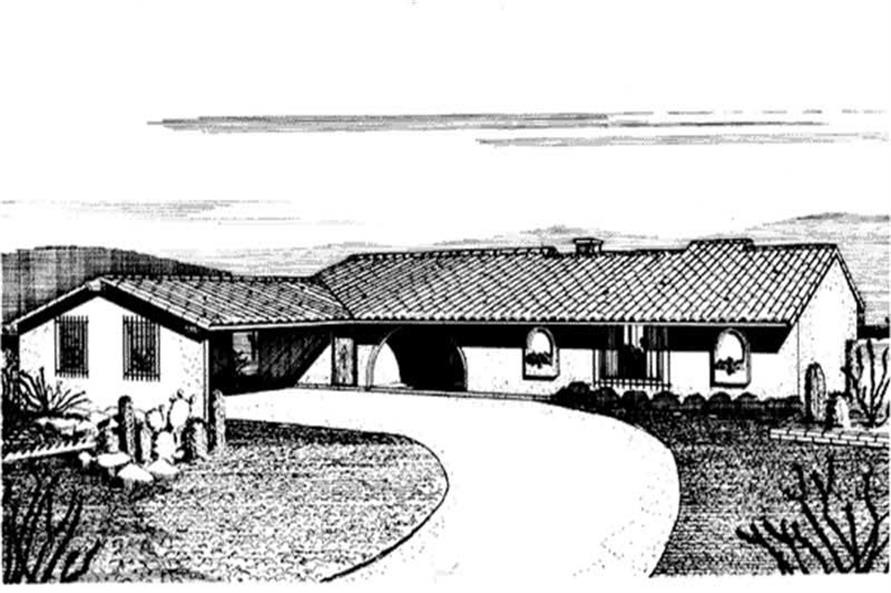 Front View to these homeplans
