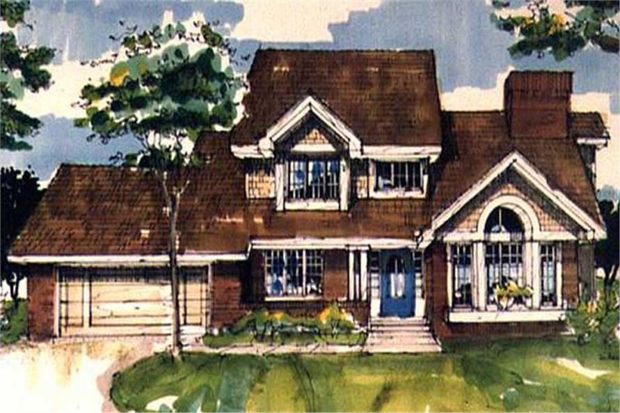 This image shows the Traditional/Country Style of this set of House Plans