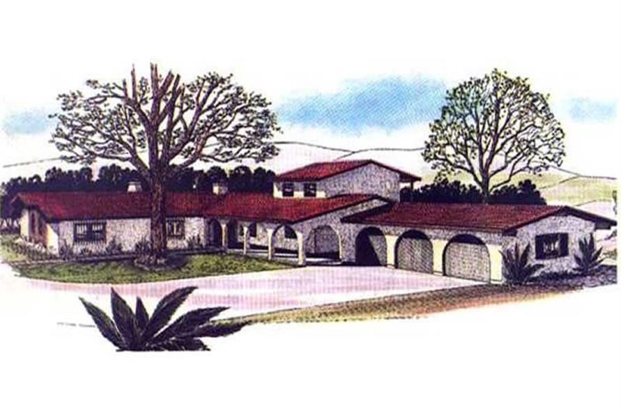 Color Rendering of this house design