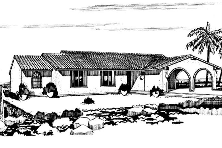 Front View for this house plan