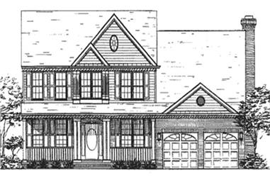 4-Bedroom, 2610 Sq Ft Colonial House Plan - 146-1718 - Front Exterior