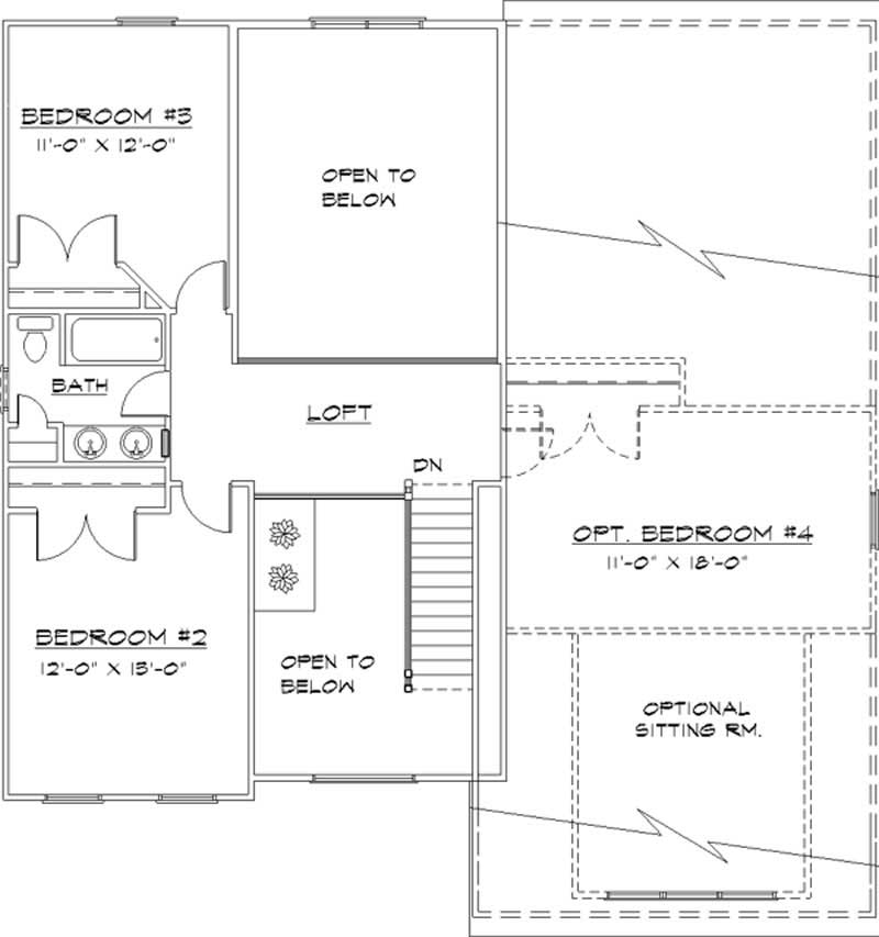 Colonial House Plans Home Design Ls 96817 Ms 21028