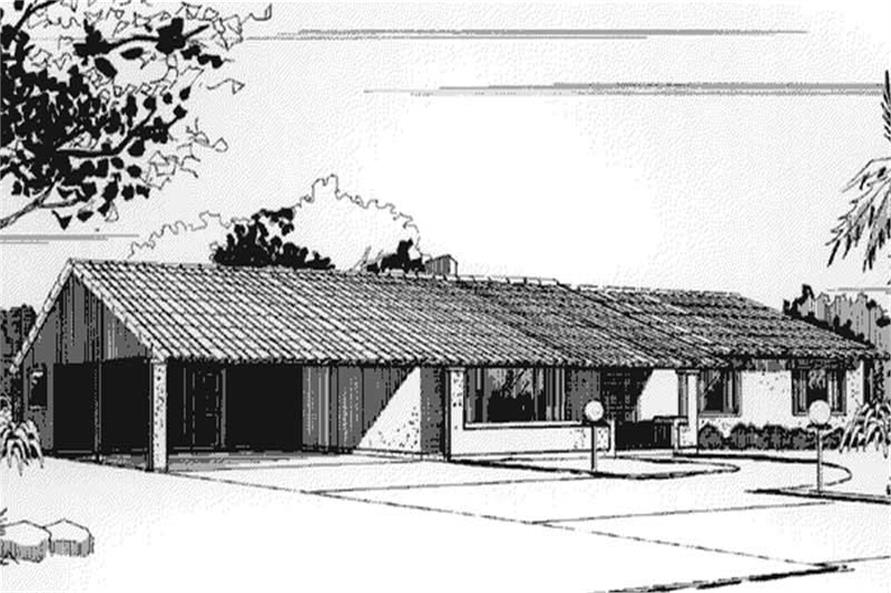 Front Elevation to this houseplan