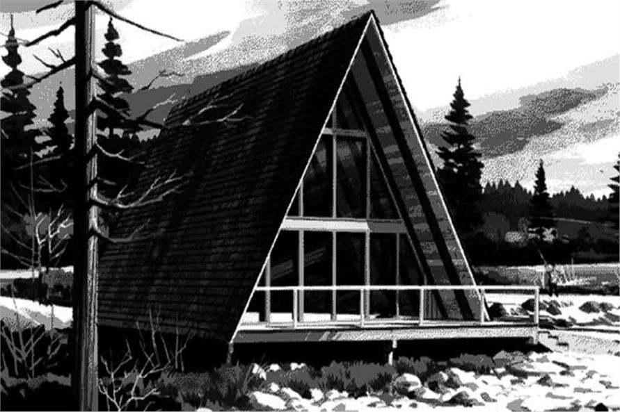 146 1724 this is the front elevation of a frame house plans ls h 726 - A Frame House Plans