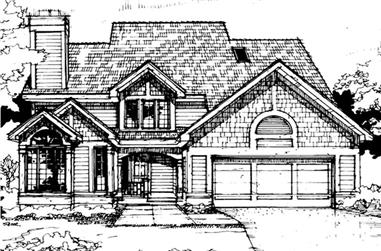 3-Bedroom, 2229 Sq Ft Country House Plan - 146-1725 - Front Exterior
