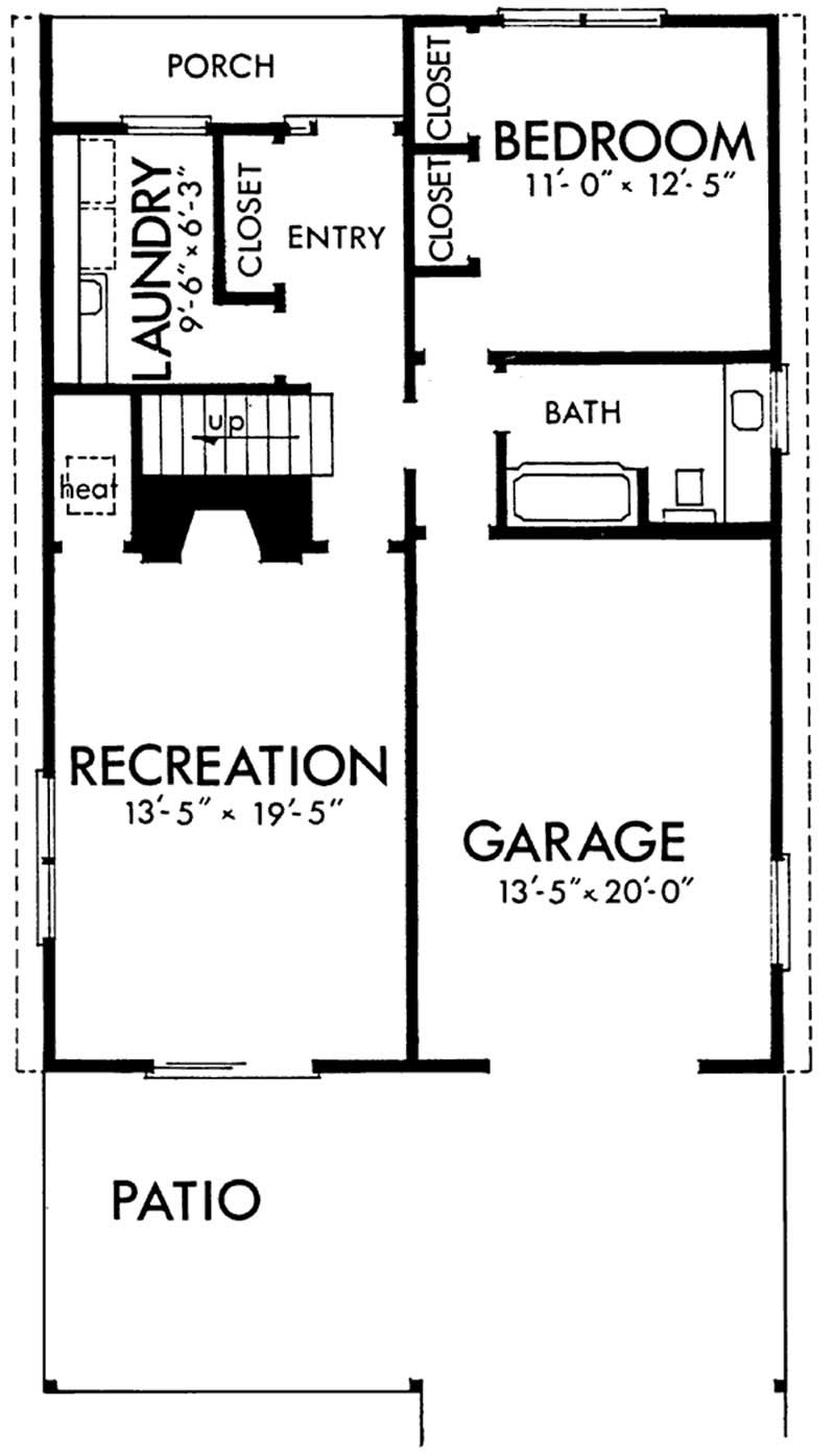 Vacation house plans home design ls h 8336 - House plans one story with basement collection ...