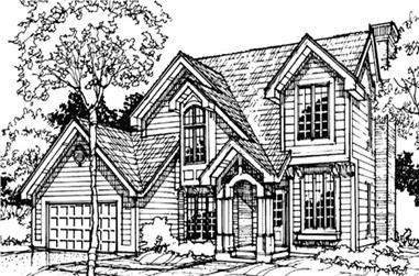 3-Bedroom, 2077 Sq Ft Country Home Plan - 146-1734 - Main Exterior