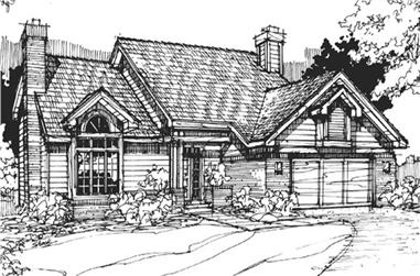 3-Bedroom, 3325 Sq Ft Country House Plan - 146-1736 - Front Exterior