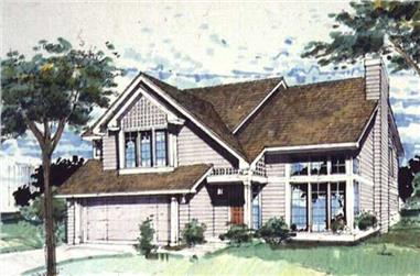 3-Bedroom, 2041 Sq Ft Country Home Plan - 146-1737 - Main Exterior