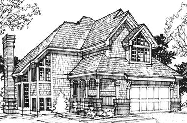 3-Bedroom, 2220 Sq Ft Country House Plan - 146-1739 - Front Exterior
