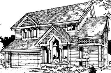 3-Bedroom, 2199 Sq Ft Country Home Plan - 146-1740 - Main Exterior