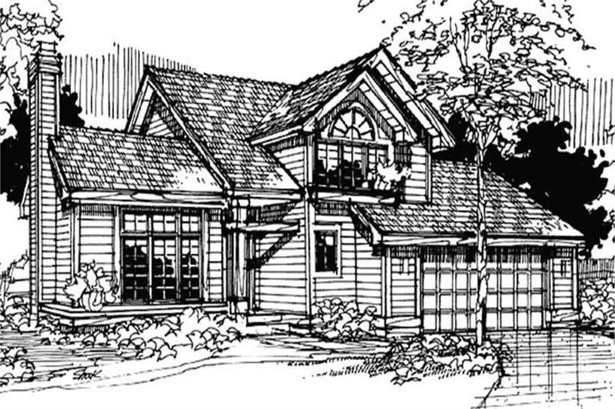 2-Bedroom, 1960 Sq Ft Country House Plan - 146-1749 - Front Exterior
