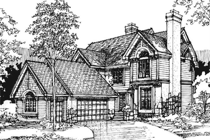 This image shows the Specialty/Traditional/Country Style of this set of house plans.