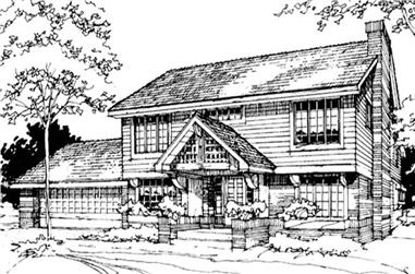 2-Bedroom, 1995 Sq Ft Country Home Plan - 146-1752 - Main Exterior
