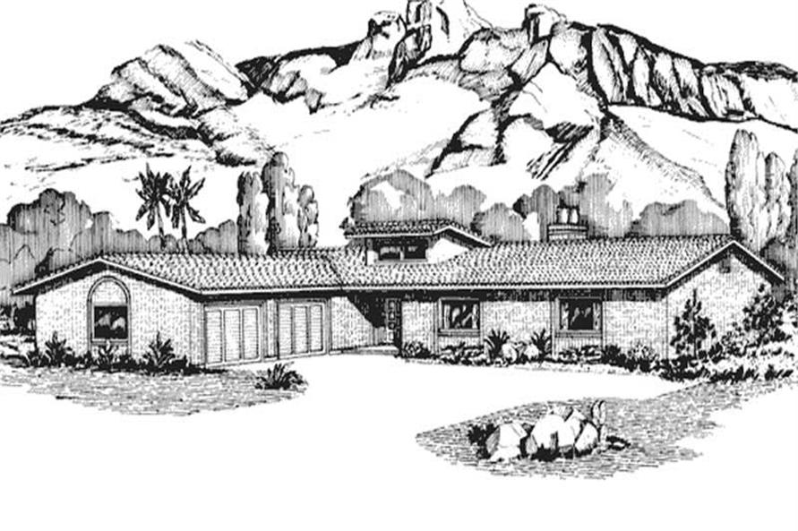 Front View to this home plan