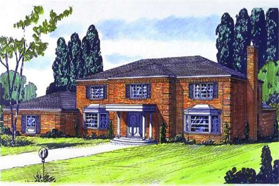 Color Rendering of the house plan