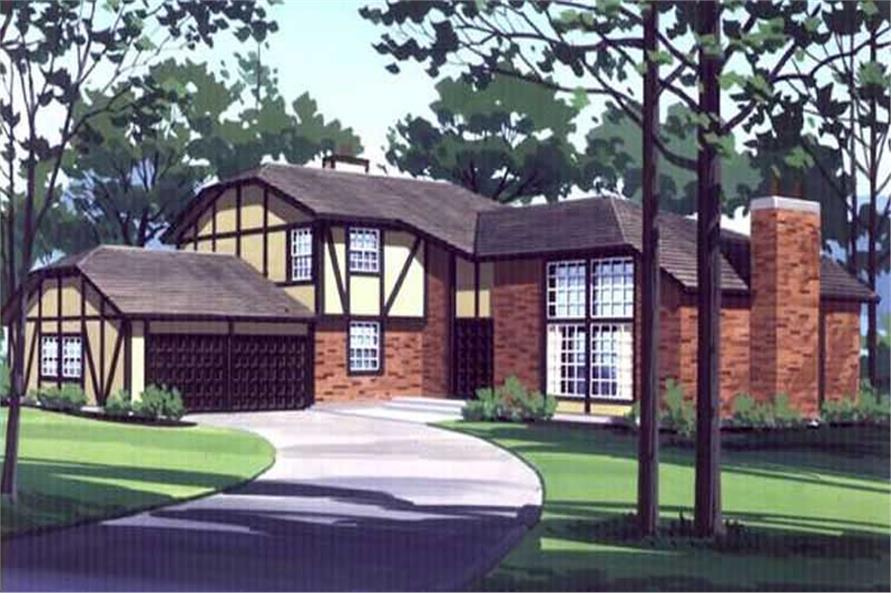 3-Bedroom, 2355 Sq Ft Tudor Home Plan - 146-1771 - Main Exterior